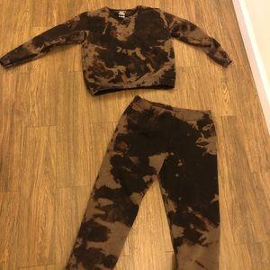 NEVER WORN Vintage Bleach Tye Dye Jump Suit Set!